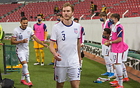 , MEXICO - : Henry Kessler #3 of the U-23 USMNT walking out during a game between  and undefined at  on ,  in , Mexico.