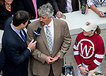 MAY 2, 2014: Steve Amsussen, trainer for Untapable, is interviewed after winning the Kentucky Oaks Stakes ridden by Rosie Napravnik at Churchill Downs in Lexington, KY. Jon Durr/ESW/CSM