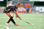 GER - Mannheim, Germany, May 24: During the U16 Girls match between The Netherlands (white) and Belgium (black) during the international witsun tournament on May 24, 2015 at Mannheimer HC in Mannheim, Germany. Final score 3-1 (2-0). (Photo by Dirk Markgraf / www.265-images.com) *** Local caption *** Laetitia Goeminne #11 of Belgium