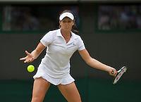 01-07-13, England, London,  AELTC, Wimbledon, Tennis, Wimbledon 2013, Day seven, Laura Robson (GBR)<br /> <br /> <br /> <br /> Photo: Henk Koster