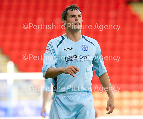 St Johnstone FC...Season 2012-13.Gary Miller.Picture by Graeme Hart..Copyright Perthshire Picture Agency.Tel: 01738 623350  Mobile: 07990 594431