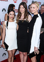 HOLLYWOOD, CA - JUNE 15: Aimee Garcia, Jennifer Carpenter and Yvonne Strahovski arrive at the premiere screening of Showtime's 'Dexter' Season 8 at Milk Studios on June 15, 2013 in Hollywood, California. (Photo by Celebrity Monitor)
