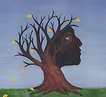 Conceptual image of deciduous tree depicting Alzheimer's disease