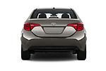 Straight rear view of 2017 Toyota Corolla XLE Premium 4 Door Sedan stock images