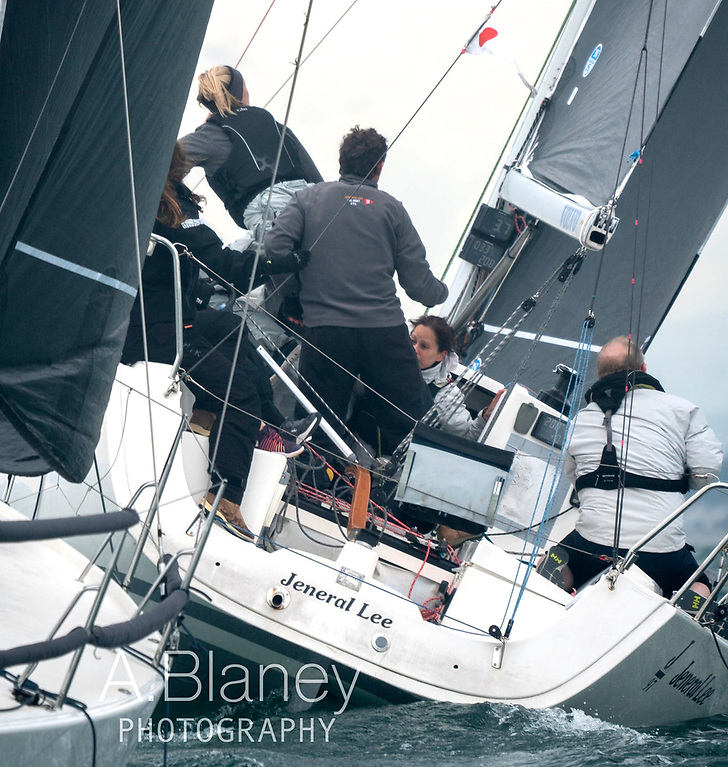 Good for the day that's in it – the J/97 Jeneral Lee won IRC 1 in the final race. Photo: Annraoi Blaney