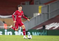 1st October 2020; Anfield, Liverpool, Merseyside, England; English Football League Cup, Carabao Cup, Liverpool versus Arsenal; Harry Wilson of Liverpool races forward with the ball