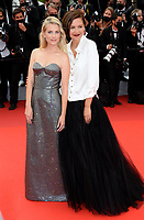 CANNES, FRANCE. July 12, 2021: Maggie Gyllenhaal & Melanie Laurent at the gala premiere of Wes Anderson's The French Despatch at the 74th Festival de Cannes.<br /> Picture: Paul Smith / Featureflash