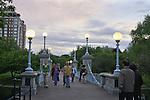 Pedestrian bridge in the Boston Public Garden, MA