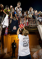 Amber Brooks, fans.  The USWNT defeated Brazil, 4-1, at an international friendly at the Florida Citrus Bowl in Orlando, FL.