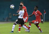 Washington, DC - October 13, 2015: Canada tied Ghana, 1-1, during an international friendly at RFK Stadium.
