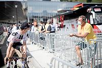 interviewing riders in 2020<br /> <br /> Stage 5: Megève to Megève (154km)<br /> 72st Critérium du Dauphiné 2020 (2.UWT)<br /> <br /> ©kramon