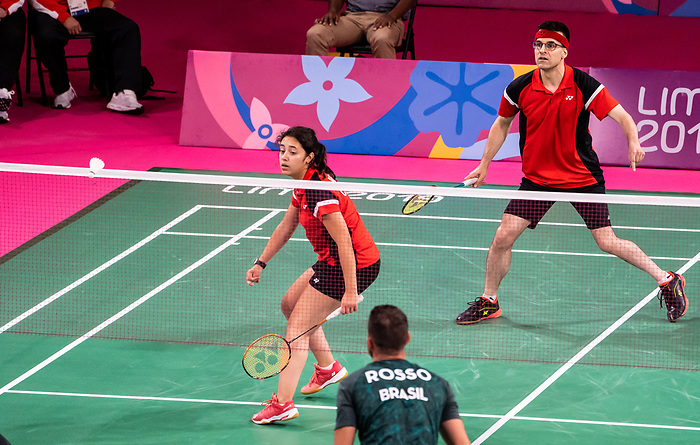 Olivia Meier and Pascal Lapointe, Lima 2019 - Para Badminton // Parabadminton.<br />
