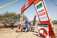 3rd January 2021, Jeddah, Saudi Arabia;  121 Barthelemy Guillaume (fra), KTM, Team RS Concept, Moto, Bike, action, start during the Dakar 2021's Prologue and start podium ceremony in Jeddah, Saudi Arabia on January 3rd 2021