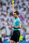 Referee Juan Martínez Munuera in action during the La Liga 2017-18 match between Real Madrid and Athletic Club Bilbao at Estadio Santiago Bernabeu on April 18 2018 in Madrid, Spain. Photo by Diego Souto / Power Sport Images