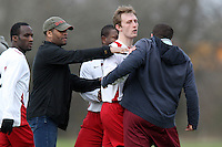 Tempers flare during a Hackney & Leyton Sunday League match between FC Highstone and Hospital Tavern FC at Hackney Marshes - 02/03/08 - MANDATORY CREDIT: Gavin Ellis/TGSPHOTO - Self billing applies where appropriate - Tel: 0845 094 6026