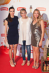 (L-R) Pilar Rubio, Lujan Arguelles and Patricia Montero pose during Zumosol event in Madrid, Spain. May 20, 2015. (ALTERPHOTOS/Victor Blanco)