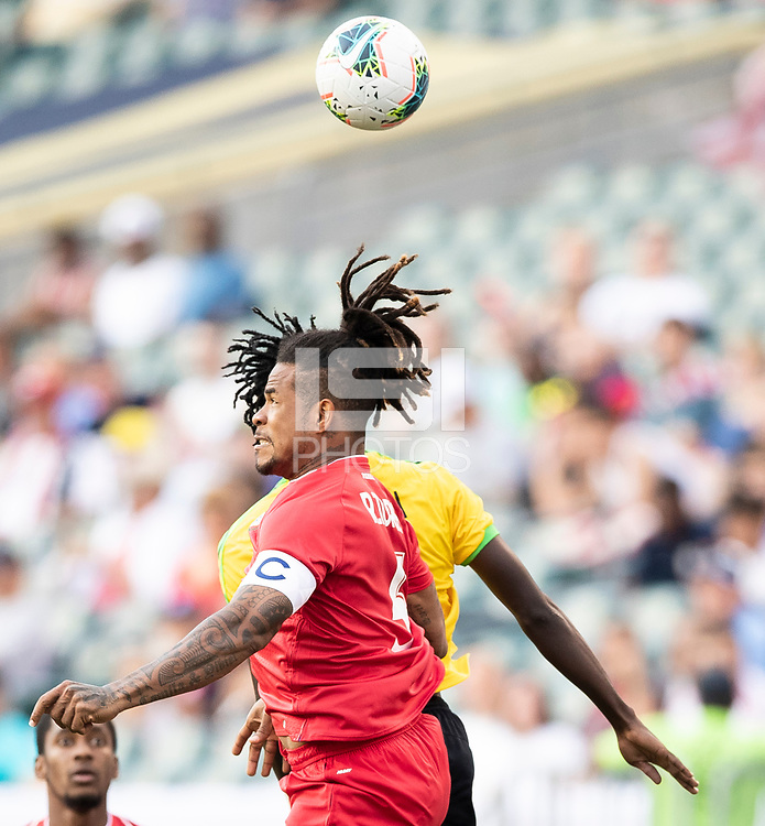 PHILADELPHIA, PA - JUNE 30: Roman Torres #5 during a game between Panama and Jamaica at Lincoln Financial Field on June 30, 2019 in Philadelphia, Pennsylvania.