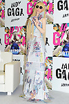 December 1st, 2013 : Tokyo, Japan - GAGADOLE, a dole that was made as close as her figure and could play music by hugging it, was introduced during a press conference of Lady Gaga's new album, Artpop, at Roppongi Hills, Roppongi, Minato, Tokyo, Japan on December 1, 2013. (Photo by Koichiro Suzuki/AFLO)