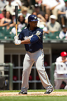 Milwaukee Brewers second baseman Rickie Weeks #23 at bat during the Major League Baseball game against the Chicago White Sox on June 24, 2012 at US Cellular Field in Chicago, Illinois. The White Sox defeated the Brewers 1-0 in 10 innings. (Andrew Woolley/Four Seam Images).