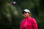 Simin Feng of China looks on during the Hyundai China Ladies Open 2014 practice day on December 11 2014 at Mission Hills Shenzhen, in Shenzhen, China. Photo by Xaume Olleros / Power Sport Images