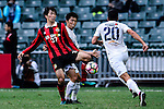 FC Seoul Midfielder Yoon Seung Won (l) fights for the ball with Auckland City Defender Takuya Iwata (c) during the 2017 Lunar New Year Cup match between Auckland City FC (NZL) vs FC Seoul (KOR) on January 28, 2017 in Hong Kong, Hong Kong. Photo by Marcio Rodrigo Machado/Power Sport Images