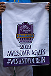 """ARCADIA, CA  SEPTEMBER 28:  <br /> Awesome Again Stakes (Grade l) """"Win and You're In Breeders' Cup Classic Division""""  saddle towel on September 28, 2019 at Santa Anita Park in Arcadia, CA.(Photo by Casey Phillips/Eclipse Sportswire/CSM)"""