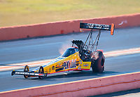Oct 20, 2019; Ennis, TX, USA; NHRA top fuel driver Leah Pritchett during the Fall Nationals at the Texas Motorplex. Mandatory Credit: Mark J. Rebilas-USA TODAY Sports