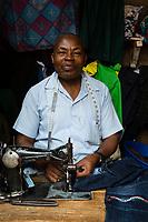 Tanzania.  Mto wa Mbu. Tailor Working in the Market.