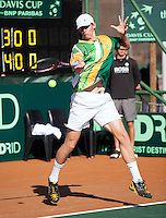 10-07-11, Tennis, South-Afrika, Potchefstroom, Daviscup South-Afrika vs Netherlands, Kevin Anderson