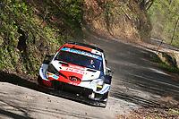 24th April 2021; Zagreb, Croatia; WRC Rally of Croatia, stages 9-16; Sebastien Ogier-Toyota Yaris WRC
