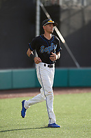 Sandra Day O'Connor Eagles shortstop Jayce Easley (3) before a game against Mountain Ridge High School at Brazell Field at GCU on April 19, 2018 in Glendale, Arizona. Mountain Ridge defeated Sandra Day O'Connor 2-1. (Zachary Lucy/Four Seam Images)