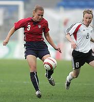 MAR 15, 2006: Faro, Portugal:  Christie Rampone, Conny Pohlers