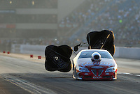 Jul, 9, 2011; Joliet, IL, USA: NHRA pro stock driver Ronnie Humphrey during qualifying for the Route 66 Nationals at Route 66 Raceway. Mandatory Credit: Mark J. Rebilas-