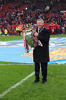 Pictured: Manchester United manager Sir Alex Ferguson.<br /> Sunday 12 May 2013<br /> Re: Barclay's Premier League, Manchester City FC v Swansea City FC at the Old Trafford Stadium, Manchester.