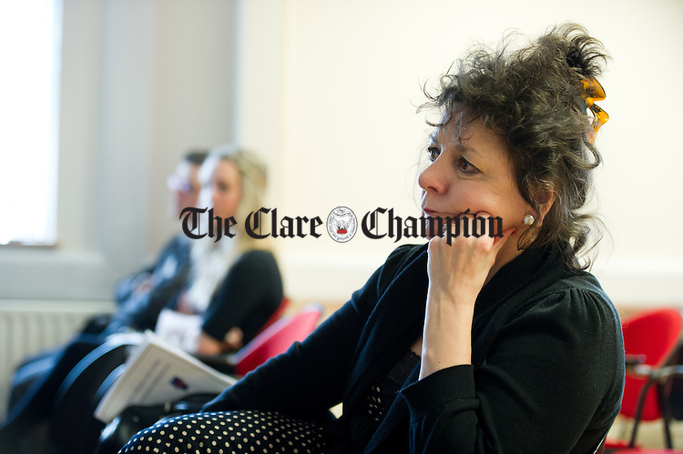 Professor Marie Parker Jenkins of University of Limerick at the Limerick And Clare Education Centres Education Research Conference 2014 in the Clare Education Centre,  Ennis. Photograph by John Kelly.