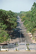 In Ho Chi Minh City, Saigon, February 1988. Light traffic in downtown Saigon. View from the Emperial Palace.