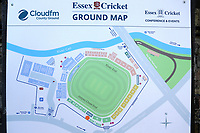 Map of the ground ahead of Essex CCC vs Surrey CCC, Specsavers County Championship Division 1 Cricket at The Cloudfm County Ground on 18th September 2019