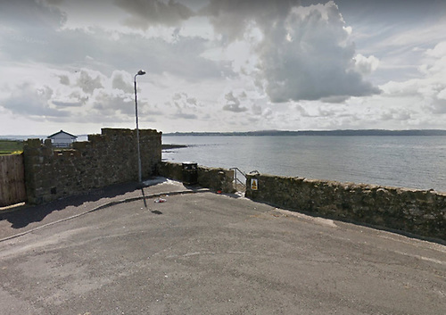 The access steps for swimmers at Rhanbuoy in Carrickfergus