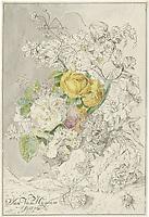 Flower arrangement - by Cornelis Ploos van Amstel, 1778