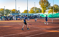 Netherlands, Oktober 24,  2021, Zuidwolde,  KIA Competition Men, premier league,  Suthwalda vs Spijkenisse, Doubles : Boy Westerhof (NED) Jarno Jans (NED) vs   Torsten Sollie (NED) Stefan Weeda (NED)   Boy Vergeer (NED) and Yannick Lupescu (NED) vs Milaan Niesten (NED) and Tim van Terheijden<br /> Photo: Henk Koster/tennisimages.com
