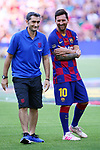 Presentation 1st team FC Barcelona 2019/2020.<br /> Ernesto Valverde & Lionel Messi.