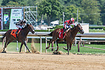 August 14, 2020:  Persian Queen #1 ridden by Eric Cancel wins the 3rd race on Perfect Sting Day at Saratoga Race Course in Saratoga Springs, New York. Rob Simmons/CSM