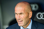 Manager Zinedine Zidane of Real Madrid looks prior the La Liga match between Real Madrid and Levante UD at the Estadio Santiago Bernabeu on 09 September 2017 in Madrid, Spain. Photo by Diego Gonzalez / Power Sport Images