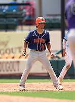 Escambia Gators JoJo Blackmon (16) leads off first base during the 42nd Annual FACA All-Star Baseball Classic on June 6, 2021 at Joker Marchant Stadium in Lakeland, Florida.  (Mike Janes/Four Seam Images)