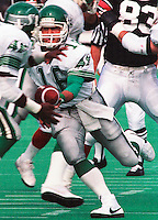 Tom Burgess Saskatchewan Roughriders 1987. Photo F. Scott Grant