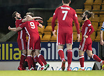 St Johnstone v Aberdeen…13.12.17…  McDiarmid Park…  SPFL<br />Adam Rooney celebrates his goal<br />Picture by Graeme Hart. <br />Copyright Perthshire Picture Agency<br />Tel: 01738 623350  Mobile: 07990 594431