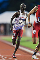 Mach Dojiok of South Dakota competes in 800 meter prelims during West Preliminary Track and Field Championships, Friday, May 29, 2015 in Austin, Tex. (Mo Khursheed/TFV Media via AP Images)