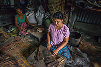 Ma Khin May Thein in Yangon, Myanmar is a self-supporting widow and runs a small incense making business. With a $300 loan from BRAC she bought materials to make incense, such as sticks, powder, charcoal and now supervises eight workers. They supply dealers and individuals, making about $150 a month.