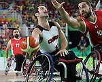 Chad Jassman, Rio 2016 - Wheelchair Basketball // Basketball en fauteuil roulant.<br /> The Canadian men's wheelchair basketball team face Turkey in their final round of preliminary play // L'équipe canadienne masculine de basketball en fauteuil roulant affronte la Turquie lors de sa dernière ronde de match préliminaire. 12/09/2016.