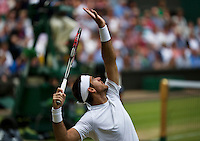 03-07-13, England, London,  AELTC, Wimbledon, Tennis, Wimbledon 2013, Day nine, <br /> <br /> <br /> <br /> Photo: Henk Koster